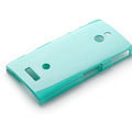 ROCK Colorful Glossy Cases Skin Covers for Sony Ericsson LT22i Xperia P - Blue