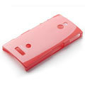 ROCK Colorful Glossy Cases Skin Covers for Sony Ericsson LT22i Xperia P - Red