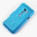 ROCK Magic cube TPU soft Cases Covers for HTC EVO 3D G17 X515M - Blue