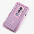 ROCK Magic cube TPU soft Cases Covers for HTC EVO 3D G17 X515M - Pink