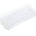 ROCK Magic cube TPU soft Cases Covers for HTC One S Ville Z520E - White