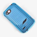 ROCK Magic cube TPU soft Cases Covers for HTC Vigor Rezound ADR6425 - Blue