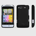 ROCK Naked Shell Hard Cases Covers for HTC Salsa G15 C510e - Black