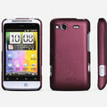 ROCK Naked Shell Hard Cases Covers for HTC Salsa G15 C510e - Red
