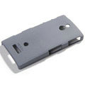 ROCK Quicksand Hard Cases Skin Covers for Sony Ericsson LT22i Xperia P - Gray