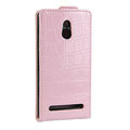 Crocodile pattern Leather Cases Holster Cover For Sony Ericsson LT22i Xperia P - Pink
