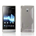 Jokod TaiJi TPU Soft Cases Skin Covers For Sony Ericsson LT22i Xperia P - Transparent Gray (Screen protection film)