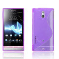 Jokod TaiJi TPU Soft Cases Skin Covers For Sony Ericsson LT22i Xperia P - Transparent Purple (Screen protection film)