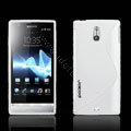 Jokod TaiJi TPU Soft Cases Skin Covers For Sony Ericsson LT22i Xperia P - White (Screen protection film)