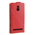 Leather Cases Support Holster Cover For Sony Ericsson LT22i Xperia P - Red
