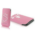Mofi Fresh Style leather Cases Holster Cover for HTC T328W Desire V - Pink