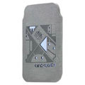 Mofi android rabbit version leather Cases Holster Cover for HTC T328W Desire V - Gray