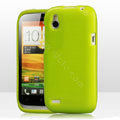 Tourmate Glitter Soft Cases Skin Covers for HTC T328W Desire V - Green
