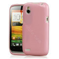 Tourmate Glitter Soft Cases Skin Covers for HTC T328W Desire V - Pink