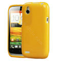 Tourmate Glitter Soft Cases Skin Covers for HTC T328W Desire V - Yellow