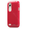 Tourmate Glossy Soft Cases Skin Covers for HTC T328W Desire V - Red
