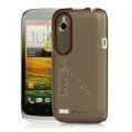 Tourmate Thin Hard Skin Cases Covers for HTC T328W Desire V - Black