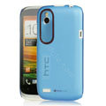 Tourmate Thin Hard Skin Cases Covers for HTC T328W Desire V - Blue