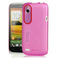 Tourmate Thin Hard Skin Cases Covers for HTC T328W Desire V - Pink