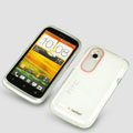 Tourmate Thin Soft Skin Cases Covers for HTC T328W Desire V - White