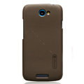 Nillkin Matte Hard Cases Skin Covers for HTC One S Ville Z520E - Brown