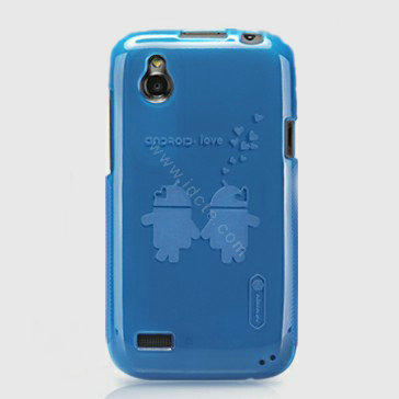 Nillkin Super Scrub Rainbow Cases Skin Covers for HTC T328W Desire V - Blue