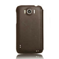 Nillkin leather Cases Holster Covers for HTC Sensation XL Runnymede X315e G21 - Brown