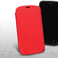 Nillkin leather Cases Holster Covers for HTC T328W Desire V - Red