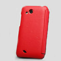 Nillkin leather Cases Holster Covers for HTC T328d Desire VC - Red
