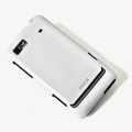 ROCK Colorful Glossy Cases Skin Covers for Motorola XT615 - White