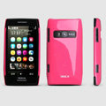ROCK Colorful Glossy Cases Skin Covers for Nokia X7 X7-00 - Rose