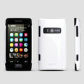 ROCK Colorful Glossy Cases Skin Covers for Nokia X7 X7-00 - White