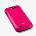 ROCK Colorful Glossy Cases Skin Covers for Samsung i8150 Galaxy W - Red