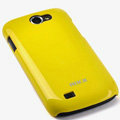 ROCK Colorful Glossy Cases Skin Covers for Samsung i8150 Galaxy W - Yellow