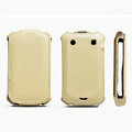 ROCK Flip leather Cases Holster Skin for BlackBerry 9900 - Cream