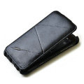 ROCK Flip leather Cases Holster Skin for HTC Sensation XL Runnymede X315e G21 - Black
