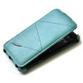 ROCK Flip leather Cases Holster Skin for HTC Sensation XL Runnymede X315e G21 - Blue