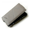 ROCK Flip leather Cases Holster Skin for Nokia Lumia 800 800c - Gray