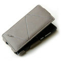 ROCK Flip leather Cases Holster Skin for Nokia N9 - Gray