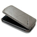 ROCK Flip leather Cases Holster Skin for Samsung i9250 GALAXY Nexus Prime i515 - Gray
