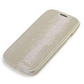ROCK Side Flip leather Cases Holster Skin for Samsung Galaxy SIII S3 I9300 - Cream