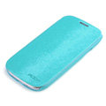 ROCK Side Flip leather Cases Holster Skin for Samsung Galaxy SIII S3 I9300 - Light Blue
