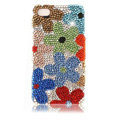 Bling Flower Crystal Cases Luxury Diamond Covers for iPhone 4G/4S - Colorful