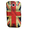 Painting British Flag TPU Soft Cases Covers for Samsung I9300 Galaxy SIII S3 - Red