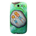 Painting Lovers TPU Soft Cases Covers for Samsung I9300 Galaxy SIII S3 - Green
