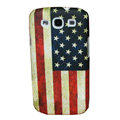 Painting USA American Flag TPU Soft Cases Covers for Samsung I9300 Galaxy SIII S3 - Red