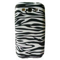 Painting Zebra TPU Soft Cases Covers for Samsung I9300 Galaxy SIII S3 - Black