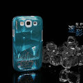 Nillkin 3D Mysterious Shadow Hard Cases Skin Covers for Samsung Galaxy SIII S3 I9300 I9308 - Ice Blue