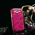 Nillkin 3D Mysterious Shadow Hard Cases Skin Covers for Samsung Galaxy SIII S3 I9300 I9308 - Red