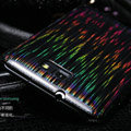 Nillkin Dynamic Color Hard Cases Skin Covers for Samsung Galaxy Note i9220 N7000 i717 - Black